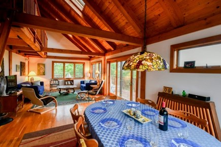 Aquinnah Martha's Vineyard vacation rental - Open living and dining room