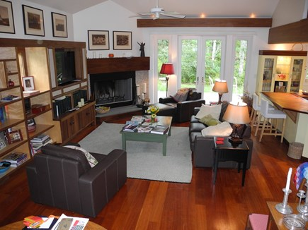 Edgartown, Chappaquiddick Martha's Vineyard vacation rental - Living Room, light, bright, spacious, soaring ceilings