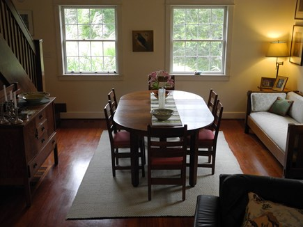 Edgartown, Chappaquiddick Martha's Vineyard vacation rental - Dining Room, dining at antique Stickly table for eight