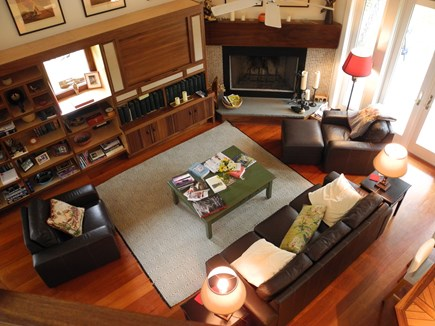 Edgartown, Chappaquiddick Martha's Vineyard vacation rental - Living Room Viewed From Loft, well appointed, comfortable