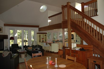 Edgartown, Chappaquiddick Martha's Vineyard vacation rental - Dining/Living Area, access to loft, spacious exterior decks