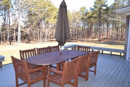 Oak Bluffs Martha's Vineyard vacation rental - Outdoor deck overlooking back yard