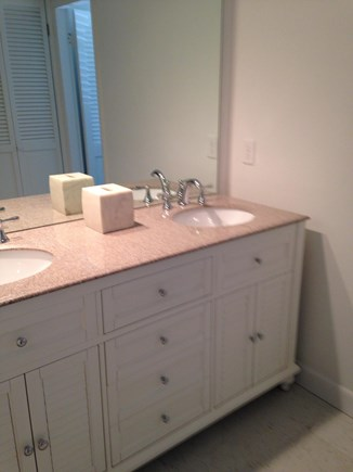 Oak Bluffs Martha's Vineyard vacation rental - Bathroom vanity separate from the shower area