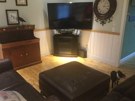 "Oak Bluffs Martha's Vineyard vacation rental - Living room with 64"" flat screen"