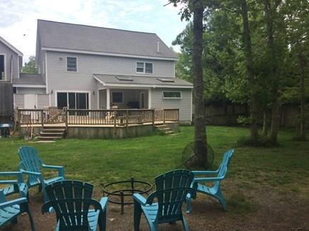 Oak Bluffs Martha's Vineyard vacation rental - Large fenced back yard and gated deck. Weber gas grill.