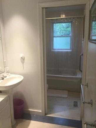 Oak Bluffs Martha's Vineyard vacation rental - Second floor master bath with whirlpool tub/shower