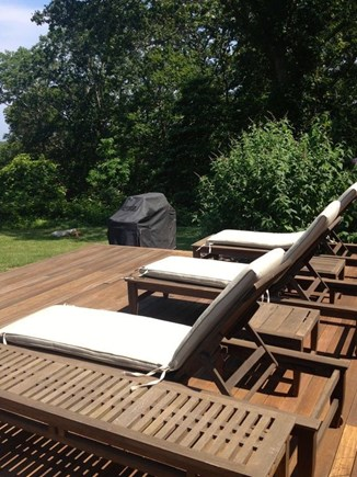 West Tisbury Martha's Vineyard vacation rental - A deck for relaxing