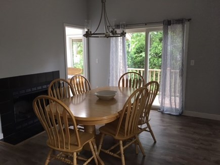 Vineyard Haven Martha's Vineyard vacation rental - Dining room with sliders to deck