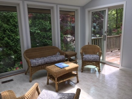 Vineyard Haven Martha's Vineyard vacation rental - Sun Porch with sliders to decks