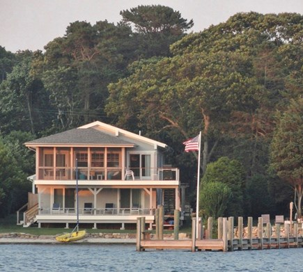 Vineyard Haven Martha's Vineyard vacation rental - View of the main house from Lake Tashmoo (dock not included)