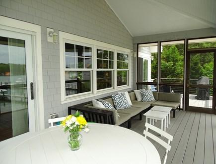 Vineyard Haven Martha's Vineyard vacation rental - Main house, upper deck screened porch.