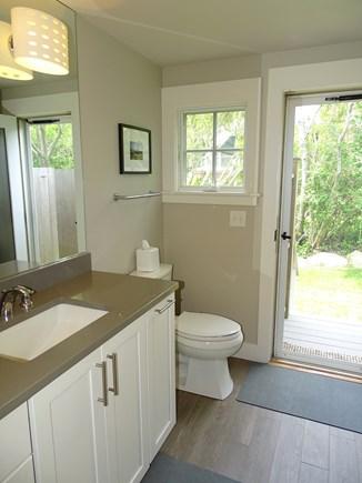 Vineyard Haven Martha's Vineyard vacation rental - Downstairs half-bath, opening to outdoor shower.