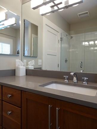 Vineyard Haven Martha's Vineyard vacation rental - Main house, upstairs, en-suite bathroom #1 with bedroom #1.