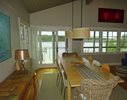 Vineyard Haven Martha's Vineyard vacation rental - Expansive dining area, looks out at porch and water views