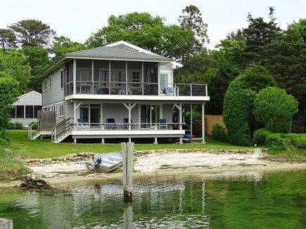 Vineyard Haven Martha's Vineyard vacation rental - View of house from private beach