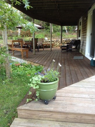 Vineyard Haven Martha's Vineyard vacation rental - Deck/ Hot Tub,  tables, lounge chairs