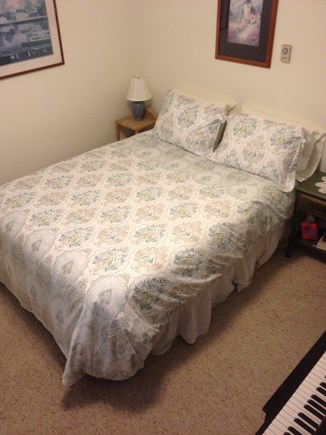 Vineyard Haven Martha's Vineyard vacation rental - Bedroom with queen bed and T.V. and piano