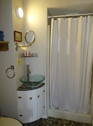 Oak Bluffs Martha's Vineyard vacation rental - Newly remodeled bathroom with pebble floor, shower