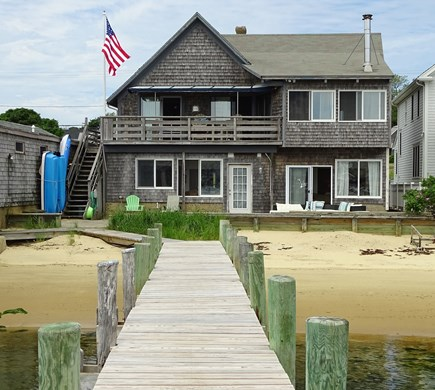 Oak Bluffs Martha's Vineyard vacation rental - House from dock, apartment is lower right entrance