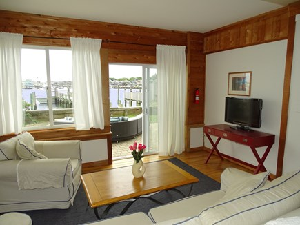 Oak Bluffs Martha's Vineyard vacation rental - Living room offers flat screen TV and water views