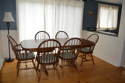 Oak Bluffs Martha's Vineyard vacation rental - Dining area with sliding glass doors opening onto side deck