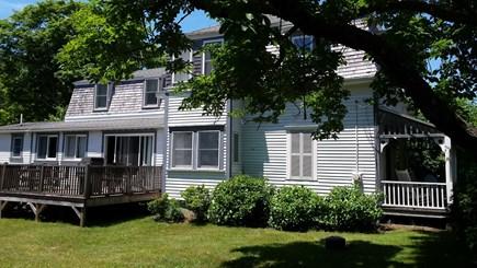 Oak Bluffs Martha's Vineyard vacation rental - Side yard, deck and porch