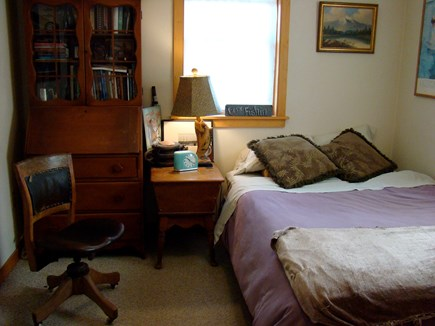 Oak Bluffs, East Chop Martha's Vineyard vacation rental - First floor bedroom with full size bed, bathroom just across hall