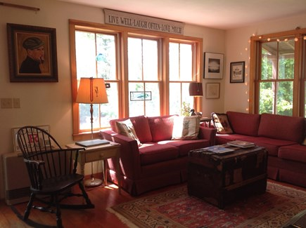 Oak Bluffs, East Chop Martha's Vineyard vacation rental - Comfortable and cozy living room with open floor plan