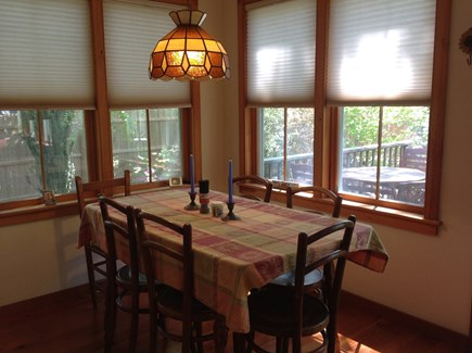 Oak Bluffs, East Chop Martha's Vineyard vacation rental - Dining area with view of gardens