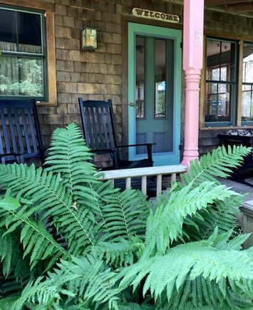 Oak Bluffs, East Chop Martha's Vineyard vacation rental - Front porch with rocking chairs and glider
