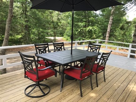 Oak Bluffs Martha's Vineyard vacation rental - Spacious deck with gas barbeque grill and outdoor seating