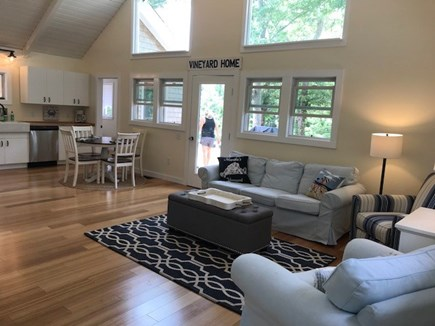 Oak Bluffs Martha's Vineyard vacation rental - Living area with vaulted ceiling