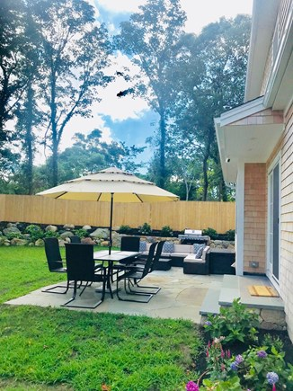 Vineyard Haven, Tisbury Martha's Vineyard vacation rental - Spacious patio with sitting and dining area