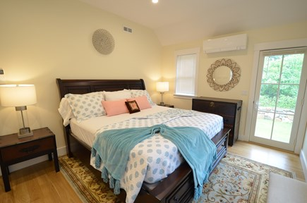 Vineyard Haven, Tisbury Martha's Vineyard vacation rental - Luxurious king bed with access to relaxing yard