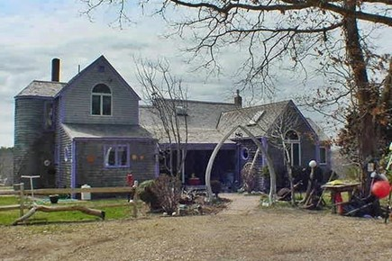 West Tisbury Martha's Vineyard vacation rental - Front view of the Main House