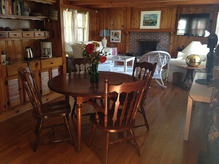Oak Bluffs Martha's Vineyard vacation rental - Great Wooden Dining Room
