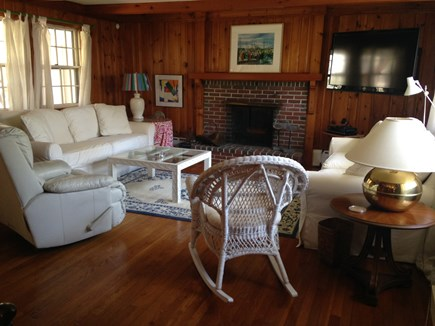 Oak Bluffs Martha's Vineyard vacation rental - Two large white couches and large TV