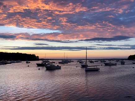 Vineyard Haven Martha's Vineyard vacation rental - Take in a sunset from Lake Tashmoo at the end of our street