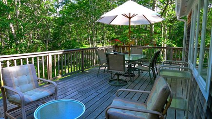 Oak Bluffs, Vineyard Haven Martha's Vineyard vacation rental - Deck...so peaceful