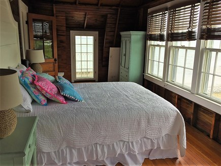Oak Bluffs &Vineyard Haven Martha's Vineyard vacation rental - Master bedroom with door to porch & views of the beach & ocean