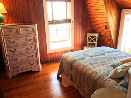 Oak Bluffs &Vineyard Haven Martha's Vineyard vacation rental - 2nd floor bedroom with waterviews & door leading to outside porch