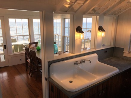 Oak Bluffs &Vineyard Haven Martha's Vineyard vacation rental - Inside dining for 8 & 2nd outdoor covered porch with round table