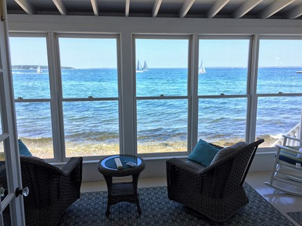 Oak Bluffs &Vineyard Haven Martha's Vineyard vacation rental - Sunroom with tons of windows - Feels like you're on a ship!