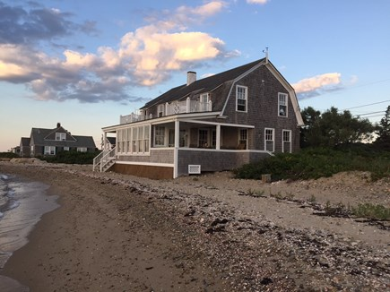 Oak Bluffs &Vineyard Haven Martha's Vineyard vacation rental - 150 feet of private beach and view of 2 second floor open porches