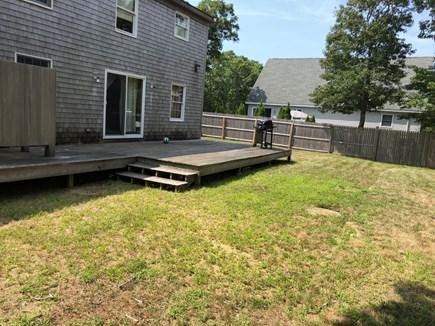 Edgartown Martha's Vineyard vacation rental - Backyard, deck and outdoor shower