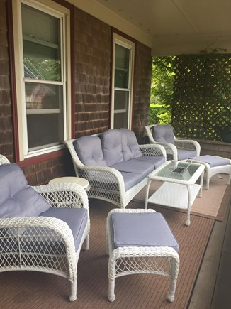 Oak Bluffs Martha's Vineyard vacation rental - Front porch perfect for relaxing (with lights)