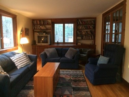 West Tisbury Martha's Vineyard vacation rental - Family room with piano and TV