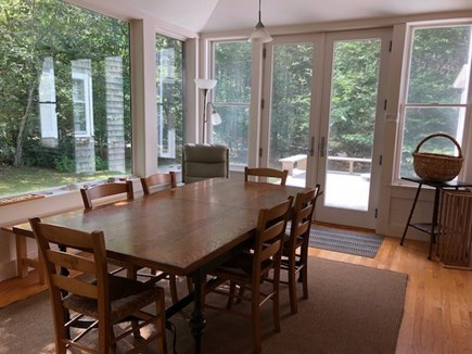 West Tisbury Martha's Vineyard vacation rental - Dining room surrounded by glass