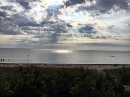 Oak Bluffs, Harthaven Martha's Vineyard vacation rental - Sunrise off patio
