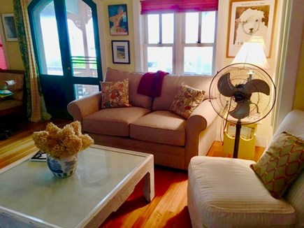 Oak Bluffs Martha's Vineyard vacation rental - Comfortable family gathering room leads to front porch